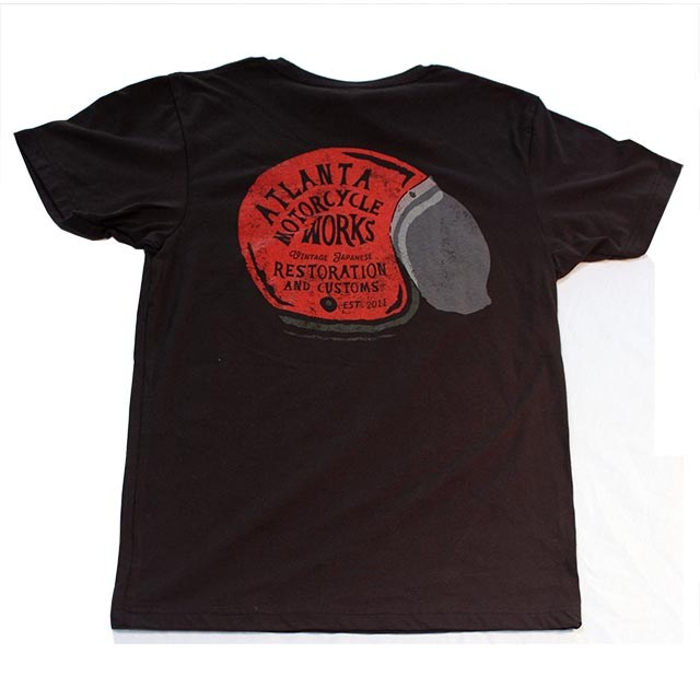 Atlanta Motorcycle Works Helmet Logo Tee